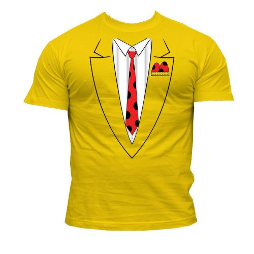 Yellow Suit Print - Novelty T-Shirt